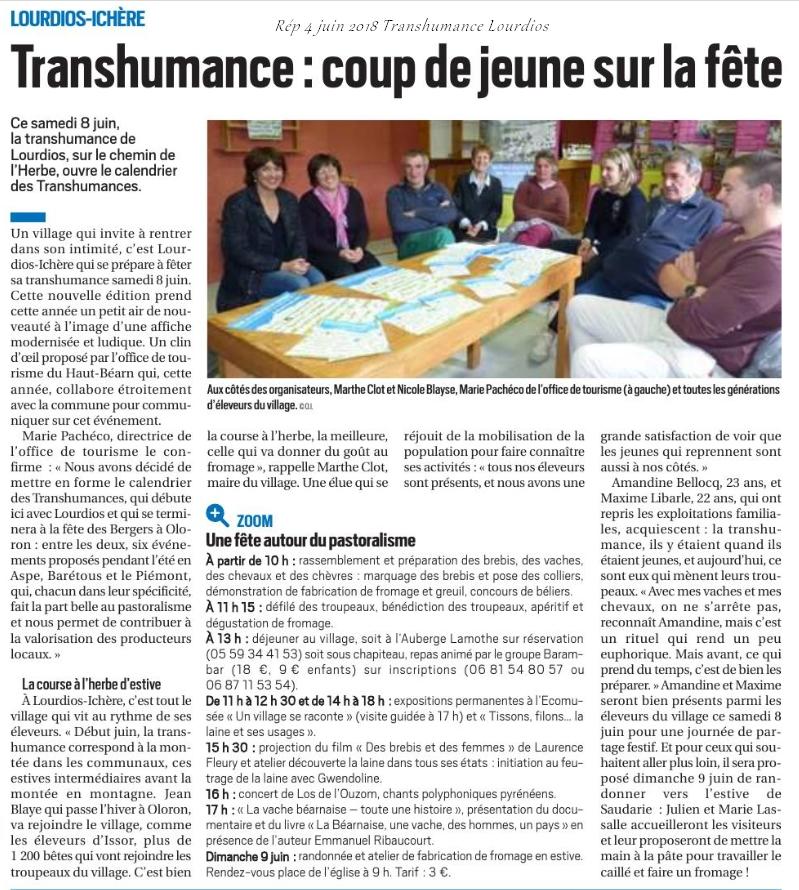 Calendrier Des Fetes De Village 64.Transhumance Lourdios
